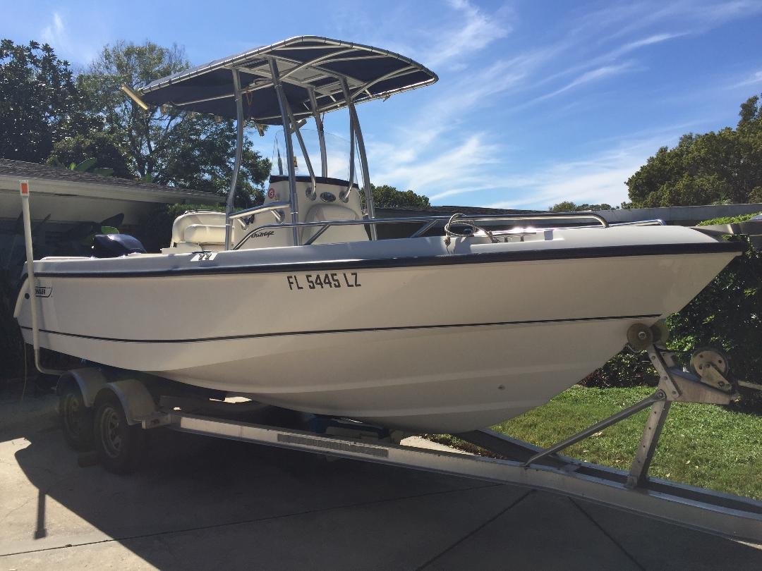 Boston Whaler 21 OUTRAGE - Tampa - Florida Boats - Show Ad - Florida